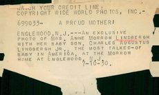 A caption from when Charles Lindbergh and Anne got back his son