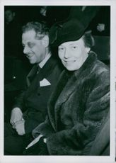 Tor Bonnier with wife.