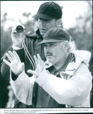 Director Michael Pressman and cinematographer Tim Suhrstedt on the set of the film To Gillian on Her 37th Birthday, 1997.