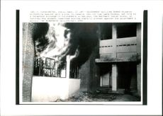 The Government Building Burns student protesting against government.