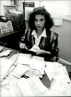 Bianca Jagger volunteer for the Red Cross
