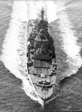 """Kirov"" during its driving in the North Sea"