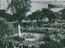 People gathered during a celebration.
