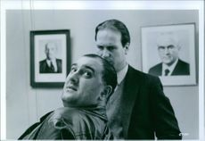 """Alexei Sayle and William Hurt from the movie """"Gorky Park""""."""