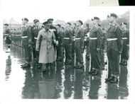 Viscount Montgomery controls the parade of soldiers