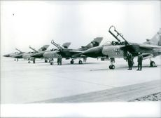The first of 322 tornado fighter planes, made in America for west Germany