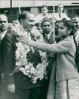 Mr. Suhrawardy with Jahanara Choudhry.