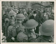 Winston Churchill spend along the army