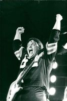 Meat Loaf during a concert in New York.