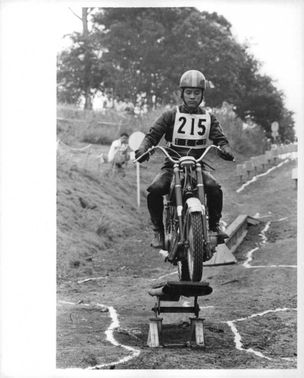 Motorcyclist during the 1964 Summer Olympics.