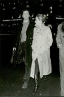 """Actress Meryl Streep and her husband Don Gummer leave the Gaumont Theater after seeing """"Don Giovanni"""""""