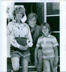 Rutger Hauer, Lisa Blount and Brandon Call in the film Blind Fury, 1990.