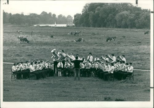 Schools 1970-1979:A last minute rehearsal.