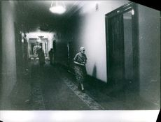 The corridor of the building where Francis Gary Powers stays, in 1960.