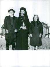 President of the Republic of Cyprus Makarios III with his parents.