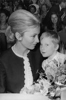 Prince Laurent with her mother Queen Paola.
