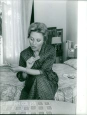 Michele Morgan playing cards.