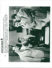David Niven, Rochard Greene, William Henry and George Sanders in Four Men and a Prayer.