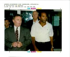 O. J. Simpson with Howard Weitzman.