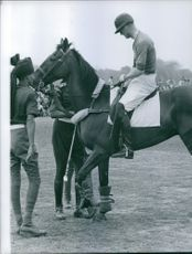 Prince Philip, horse back riding. 1961