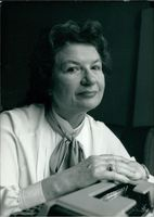 Portrait of P. D. James.