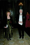 Erland Josephson, wife of the royal couple's official dinner