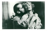 """Actors Jack Nicholson and Jessica Lange in the movie """"The postman always rings twice"""""""