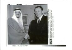 Michel Rocard with King Fahd of Saudi Arabia.