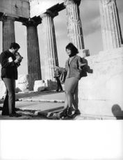 Pascale Petit during a photoshoot in Athens.