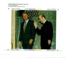 Hafez al-Assad and Bill Clinton.