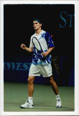 Thomas Enqvist during the Stockholm Open 1995.