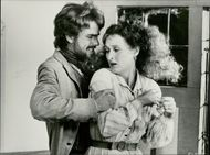 """The actors Jeremy Irons and Meryl Streep in the movie """"The French Lieutenant's Woman"""""""