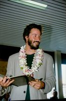 Actor Keanu Reeves arrives at Bora Bora for holidaying with his sister