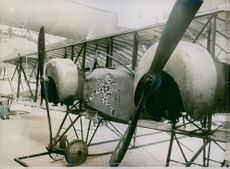 French biplane, Caudron G.4 in 1917.