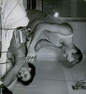 Blind man conducting massage therapy