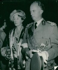 Grandmother's mother Charlotte of Luxembourg together with the bride's father Leopold III of Belgium