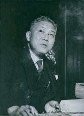 Portrait of Japanese politician Kuichiro Totsura.