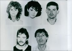 The five IRA suspects arrested in Wiesbaden, in West Germany, in July 1989.
