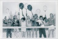 Stefan Edberg (television) along with a bunch of young tennis players