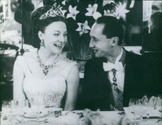 Carlos Hugo smiling with his wife, Princess Irene at the party, 1964.