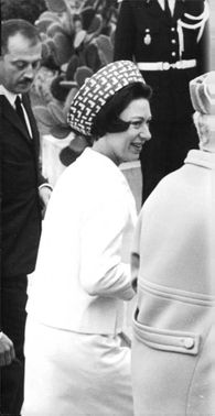 Princess Margaret smiling.