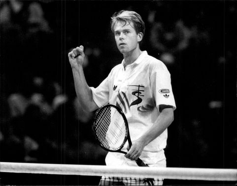 Action image of Stefan Edberg taken in an unknown context.