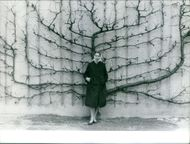 Princess Maria Gabriella standing with the branch of tree.
