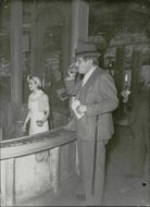 Pierre Laval at the health center in Vichy. - 3 May 1942
