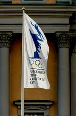 OS Flags in Stockholm, which cedates to the 2004 Olympics