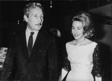 Oleg Cassini with Mrs. Joan Kennedy.  - 1962
