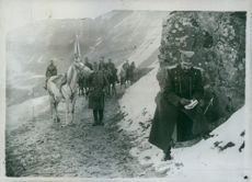 A Serbian patrol in the mountains, 1914.