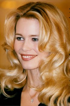 Claudia Schiffer at Palace Hotel in Moscow ahead of a fashion show