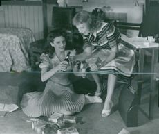 """Liane Linden and Irma Christenson in """"My Sister Ellen"""" on the Drama"""