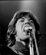 Mick Jagger on stage during a Rolling Stones concert